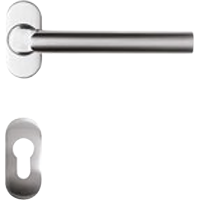 Solid stainless steel lever handle with separate escutcheon
