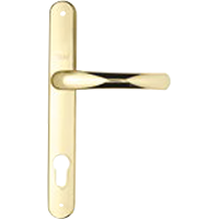 Security handle lever gold